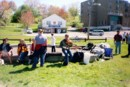 Our featured musician, Alastair D. Macdonald, entertaining the public at our Maynard Lake cleanup-June 2004