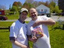 Another of the suppliers, John Harvey of Humpty Dumpty products, at our Maynard Lake cleanup-June 2004