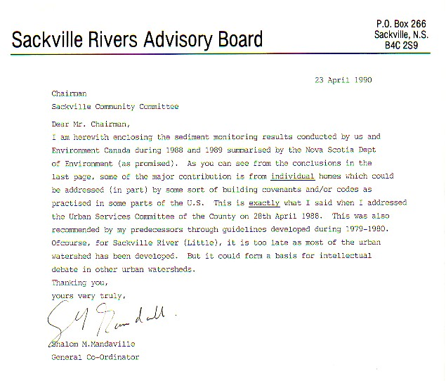 Sackville rivers advisory board srab select archives an update letter we sent the sackville community committee halifax county stopboris Image collections